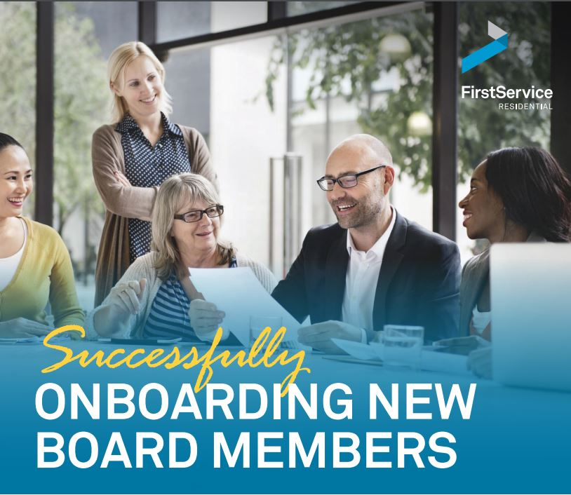 Onboarding New Board Members Guide- FirstService New York