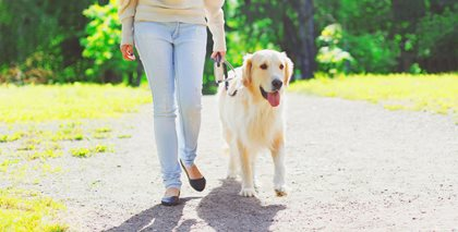 Women walking dog-FirstService Residential