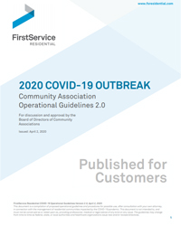 FirstService Residential 2020 COVID-19 Operational Guidelines 2.0