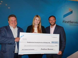 NHS of Chicago Receives Donation from FirstService Residential